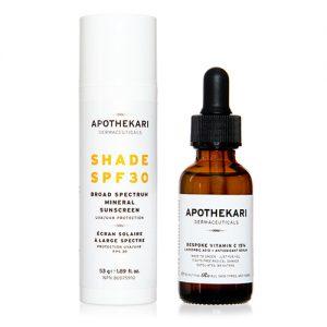 Shade SPF 30 Sunscreen + Bespoke Vitamin C Serum