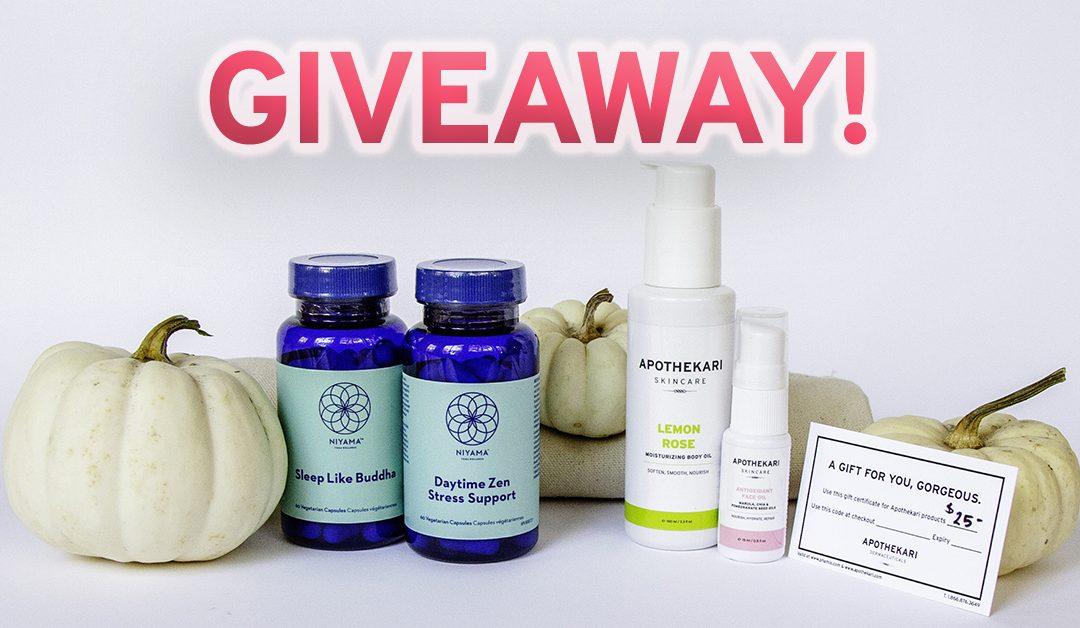Nourish to Flourish Giveaway – Win! $215 Skincare & Wellness Products