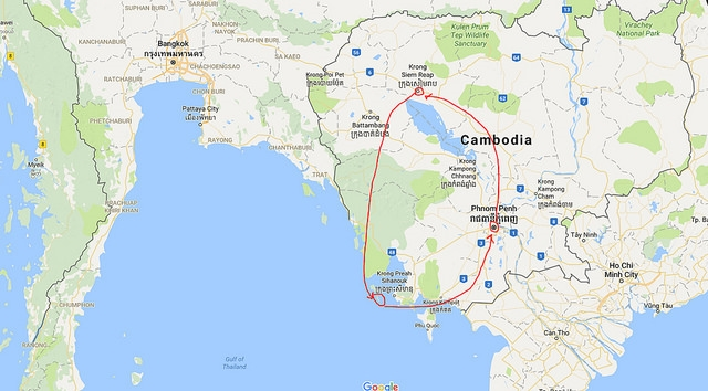 Our itinerary for Cambodia