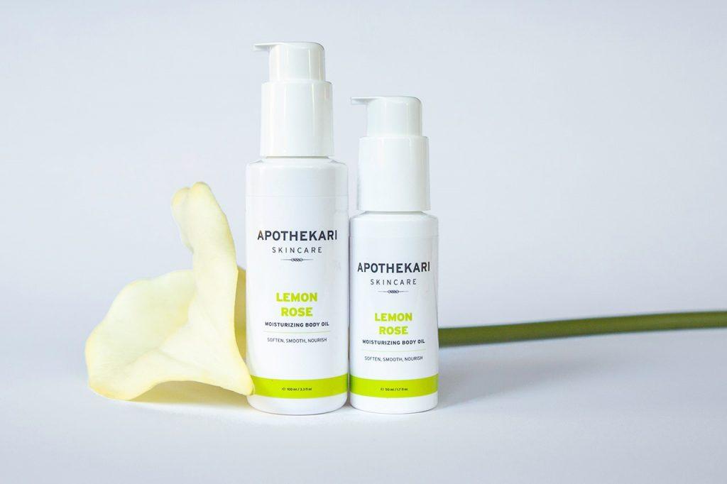 Lemon-Rose-Moisturizing-Body-Oil-Apothekari-Skincare