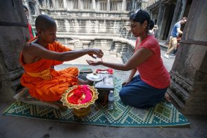 Blessing at Angkor Wat