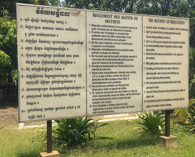 Tuol Sleng Prison Rules