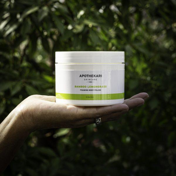 Bamboo-lemongrass-foaming-body-polish-apothekari-skincare